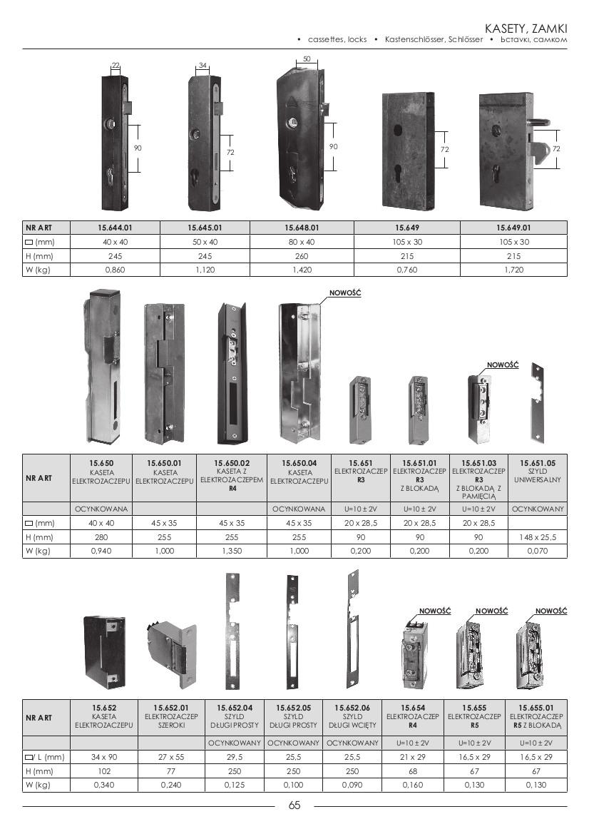 kasety,zamki65